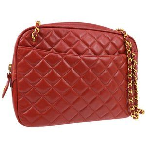 Auth Chanel Cc Quilted Chain Shoulder #6082C10B